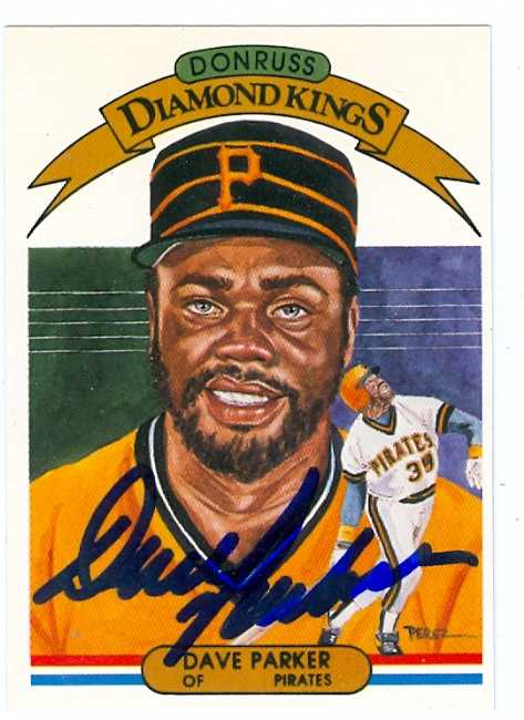 Dave Parker Autographed Baseball Card Pittsburgh Pirates