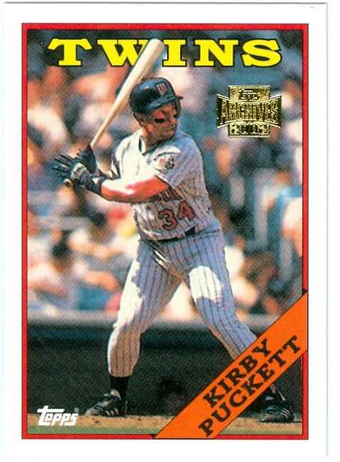 Kirby Puckett Baseball Card 2002 Topps Archives 125