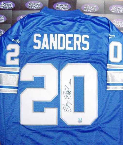 new product bbaf8 a16b4 Barry Sanders autographed Jersey (Detroit Lions)