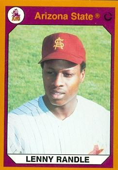 Lenny Randle Baseball Card (Arizona State) 1990 Collegiate ...