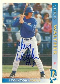 Chris Walther Autographed Baseball Card Minor League