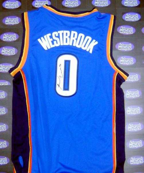 buy online 22cd5 d756b Russell Westbrook autographed Jersey (Oklahoma City ...
