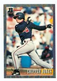 Chipper Jones Baseball Card Atlanta Braves 1993 Topps