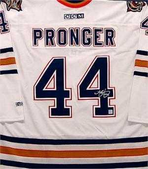 Chris Pronger autographed Jersey (Edmonton Oilers) 6a8cd5cef