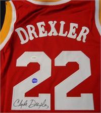 buy popular 1e998 05d05 Clyde Drexler autographed Jersey (Houston Rockets)