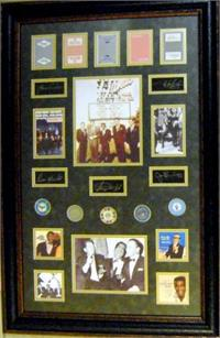 The Rat Pack Framed And Matted Laser Signatures Las Vegas Casino