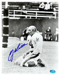 cheap for discount 46528 b2460 Y.A. Tittle autographed 8x10 photo (New York Giants ...
