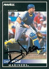 Dave Valle Autographed Baseball Card Seattle Mariners